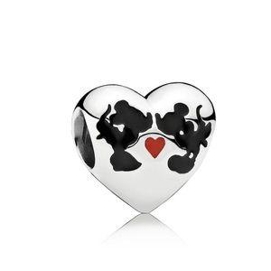 Jewelry - Pandora Disney Mickey and Minnie Kiss Charm